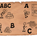 Illustration of abc analysis basics on a old paper. Simple drawings of a abc analysis in a storage.