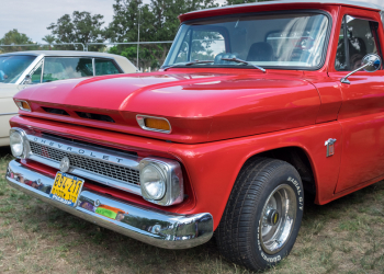 RAMAT-GAN ISRAEL - OCTOBER 6 2017: Vintage Chevrolet C10 pickup 1964 presented on annual oldtimer car show Israel